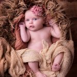 newborn baby portrait in basket